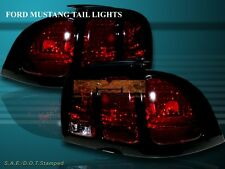 94-98 FORD MUSTANG ALTEZZA TAIL LIGHTS DARK RED 95 96 97