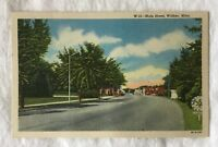 New Curt Teich Postcard Main Street Walker Minnesota Curteich