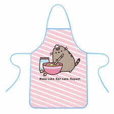 PUSHEEN APRON KITCHEN ADULT BBQ GIFT 100% COTTON MAKE CAKE EAT REPEAT CAT KITTEN