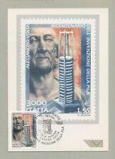 ALESSANDRO VOLTA  CARTOLINA FILATELICA 1999 MAXI CARD