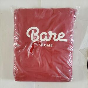 Bare Home Flannel Sheet Set 100% Cotton, Velvety Soft  Red Twin Sheet Set