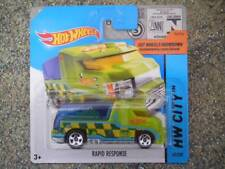 Hot Wheels 2014 # 043/250 RAPID RESPONSE verde claro Ambulancia