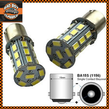 x2 BA15S 1156 LED Bulbs Single Contact White Indicator Flasher Tail Lights