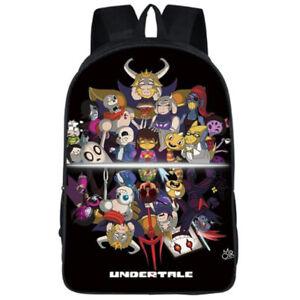 Unisex Anime Backpack Game Undertale satchel Schoolbag Travel Bags Laptop bags