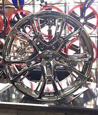 "20"" 20 Inch Jeep SRT Wheels Rims OEM Specs PVD Dark Chrome 9113 4-Set"