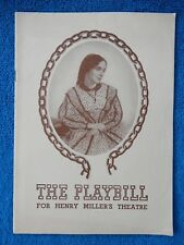 Harriet - Henry Miller's Theatre Playbill - November 7th, 1943 - Helen Hayes