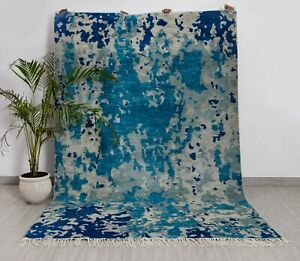 6X9 Colorful Rug Modern Abstract fine Wool Rug...#8129 (180x275 Cms.)
