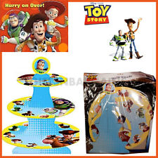 TOY STORY CUP CAKE STAND 3-TIER BOYS BIRTHDAY PARTY SUPPLIES* HOLDS 24 or 50*