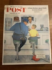 Saturday Evening Post Norman Rockwell Jigsaw Puzzle Parker Brothers Unopened New