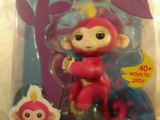 Authentic WowWee Fingerlings Pink Baby Monkey Bella Interactive Yellow Hair New
