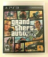 Grand Theft Auto PlayStation 3 PS3 Video Game Manual Complete V GTA 5 TESTED