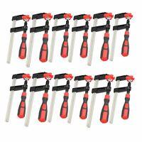 12 Pack Sliding F Clamp Clamps Bar Holder Fastener Fastening Quick Slide 3 Sizes