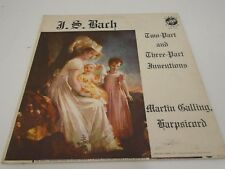 RECORD BACH TWO PART AND THREE PART INVENTIONS MARTIN GALLING 2 3 VOX