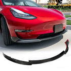 Carbon Fiber Front Bumper Lip Spoiler Chin Fit for Tesla Model 3 Sedan 2016-2021