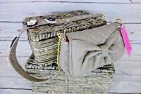 NEW Betsey Johnson Floral Applique Strap Shoulder Bag in Stone MSRP $78