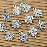 80PCS Tibetan silver tone hollow elephant design charms EF1740