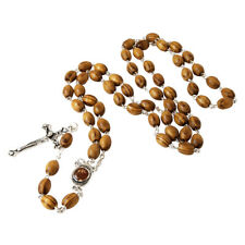Olive wood Handmade Rosary beads Prayer Knot with Holy Soil from Jerusalem 23""