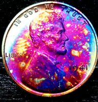 """1941 Lincoln Wheat Penny Cent- """"Beautifully Toned"""" SUPERB MS++ GEM++ BU++ 06"""