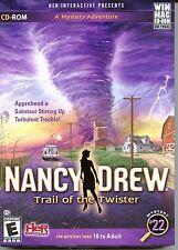 Nancy Drew TRAIL OF THE TWISTER PC & MAC Adventure Game NEW Cardboard Box