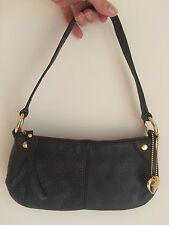 Brown Leather Suzy Smith Handbag Used Once clutch shoulder small soft zipped