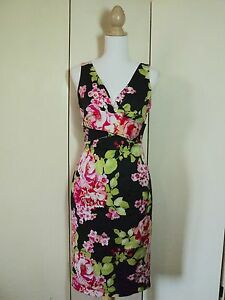 re-launch STUNNING floral wiggle dress  madmen  stretch NWT $169