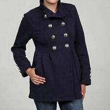 NEW Big Chill Women's Navy S Fleece-lined Stand Collar Double-breasted Jacket