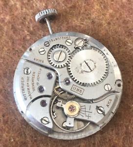 Vintage Wittnauer Cal 11NG Watch Movement Parts/Repair 17j Swiss