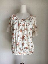 1195.BNWT! axes femme Japanese brand cute backe-style lace-up chiffon bow tops