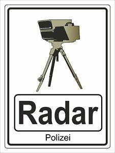 Hinweisschild Radarkontrolle Aluverbundplatte 3mm - 30x40cm RA4