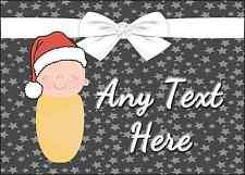 Navidad Blanco Bebé Navidad Personalizado Impreso Certificado