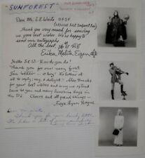 More details for sunforest clockwork orange music trio signed photographs 1970 letter autograph