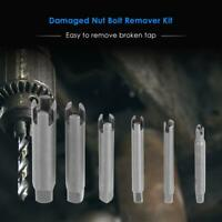 6pcs/set Damaged Nut Bolt Remover Kit Stud Extractor Broken Bolt Screw Remover