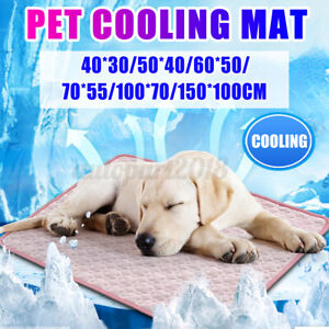 Summer Cooling Mat for Dogs Washable Cooling Mat Ice Silk Pet Self Cooling
