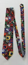 Mens NeckTie NFL Teams Helmet Print Vintage Neckwear Polyester Made in USA