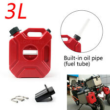 3L Motorcycle Jerry Cans Gas Diesel Fuel Tank For Car w/Lock+Mounting E2