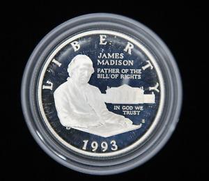 1993 James Madison Bill Of Rights Half Dollar Commemorative Silver US Coin