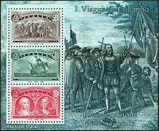 """Italia - 1992 - Colombo - Foglietto con VARIETA' """"COLOMBG"""" - nuovo (MNH)"""