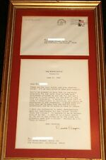 RARE RONALD REAGAN AUTOGRAPH LETTER EMBOSSED PRESIDENT SEAL WHITE HOUSE ENVELOPE