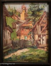 Beautiful Antique Impressionist European Oil Painting, Illegibly Signed, NICE! 1