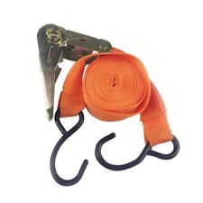 "15 ft Ratchet Tie Down strap 1"" x 15ft, Orange Color Heavy Duty Cargo Straps"