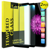 TJS 2-Pcs For LG Stylo 5/5+ Plus/5v/5x, Coverage Tempered Glass Screen Protector