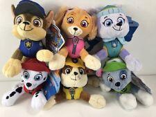 2017 Nickelodeon Paw Patrol Character Stuffed 5.5'' Plush Toys Set of 6