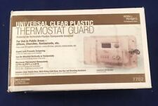 White Rodgers (7702) Universal Clear Plastic Thermostat Guard With Wall Mount