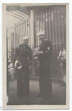 DA739 Carte Postale Photo vintage RPPC Militaire Marin Marine uniforme Peru 1936