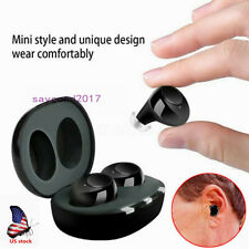 1Pair Rechargeable Digital Elderly Hearing Aids Mini  Invisible Voice Amplifier