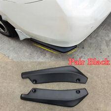 2X Matte Black Car Rear Bumpers Spoiler Rear Lip Canard Diffuser Anti-scratch