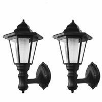 2pcs Solar LED Vintage Outdoor Wall Light Lamp Sconce Garden Lantern Porch Light