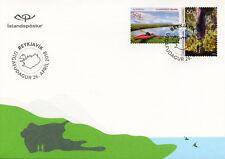 Iceland 2018 FDC Tourist VII Kayaking Kajakferdir 2v Set Cover Tourism Stamps