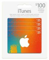 Canadian iTunes Cards 4X$25 $100 total value FAST Delivery!! PLAY BRAWL STARS!!!