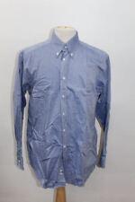 "CERRUTI 1881 Men's Blue Cotton Long Sleeve Collared Shirt Collar 16.5"" 42cm"